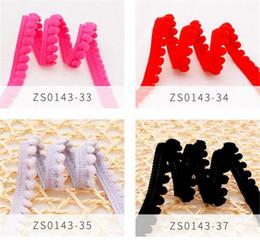 Per tagliare le perle online-Nuovi Tessili Pom Pom Trim Sfera 5mm MINI Pearl Pompon Fringe Ribbon in pizzo cucito tessuto fatto a mano accessori artigianali fai da te