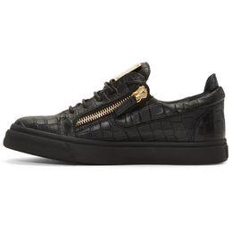 2019 европейские кроссовки бренды Европейская и американская мужская дизайнерская обувь на молнии из кожи крокодила линия мужская и женская повседневная обувь с низким верхом кроссовки модный бренд дешево европейские кроссовки бренды
