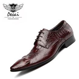 2019 обувь больших размеров продажа New Arrival Large Size 37-44 Genuine Leather Shoes Men Business Dress Shoes Pointed Toe Factory Direct Sales Classic Work скидка обувь больших размеров продажа
