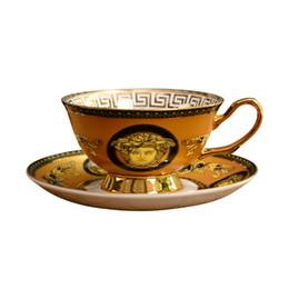 Tazze insiemi online-Tazza porcellana porcellana osso con cucchiaio fornitura tazza tazza di caffè europeo bone china tazze tazze pomeriggio set
