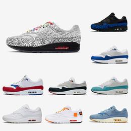 Nike air max 1 shoes Tokyo Labirent 1 Tartan Atmos Çalışma Mavi 1 s Erkek kadın Koşu Ayakkabıları 87 s OG Yıldönümü Parra Hayvan Paketi mens Spor eğitmenler Sneakers 36-45 supplier tokyo shoes nereden tokyo ayakkabıları tedarikçiler