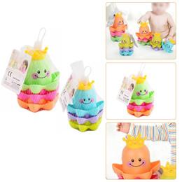 детские игрушки для детей Скидка 3 шт./компл. дети океан жизни укладки чашки игрушки для ванны Дети играют образовательные милые забавные игрушки для ванной комнаты Цвет случайный