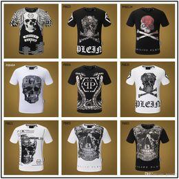689100c14 19ss 2019 para hombre camisetas de diseñador de lujo Hip Hop Streetwear  camiseta del cráneo Punk Rock Impresión de verano Hombre divertido Camisetas  Algodón ...