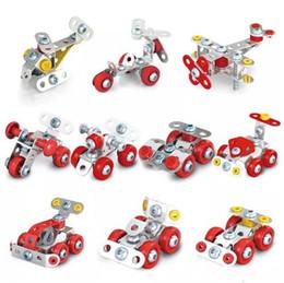 новые игрушки игрушечные автомобили Скидка 3D сборка металл инженерные транспортные средства модель наборы игрушечный автомобиль ATV мотоцикл вертолет 4WD автомобилей строительные головоломки новинки CCA10822 60 шт.