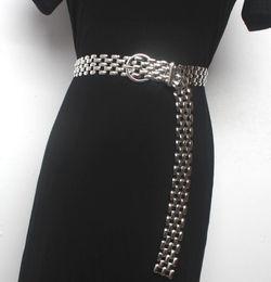 cintos de corset de moda larga Desconto Pista das mulheres moda metal Cummerbunds vestido feminino espartilhos cintos cintos decoração cinto largo R1543