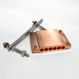 Hitze rohr kupfer online-Für AMD Heat Rohrschelle für AM4 CPU Wärmeleitrohr Pressplatte 6 Loch Reinkupferplatte / 4 Loch Reinaluminiumplatte