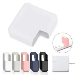 2019 rosa laptop sony Carregador caso protetor macio adaptador Silicone Poder Sleeves para Apple MacBook 12 13 15 Caso Acessórios