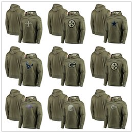 2019 trägt sweatshirts Green Bay Chicago Packers Bears Wikinger-Häuptlinge aus Minnesota, Kansas City Houston-Sweatshirt Texans Salute to Service Olive Men Hoodie