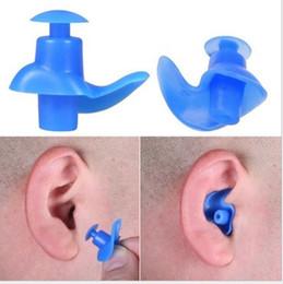 Tapones para los oídos para nadar online-Tapones para los oídos de natación tapones para los oídos de silicona profesional tapones para los oídos de baño de silicona en caja Tapones para los oídos suaves y cómodos ZZA1000