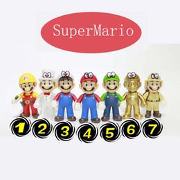 Super mario cogumelo figura on-line-2019 New Genuine SuperMario Bros Figura jogar SuperMario brinquedos PVC boneca Super Mario boneca cogumelo Mario irmãos Louis boneca 7 estilos C23