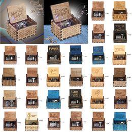 cadeaux de trônes de jeu Promotion Harry potter en bois boîte à musique 29 conception Potter Game of Thrones cadeau pour joyeux anniversaire cadeaux ornement décoration boîte à musique en bois KKA6902