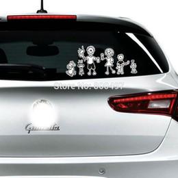 decalques da família para carros Desconto Membros da família refletivos Car-covers Estamos Family Car Sticker e decalques para VW Lada