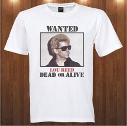 Arte de veludo preto on-line-Lou Reed tee The Velvet Subterrâneo banda de rock arte Tamanho Discout Hot Novo Tshirt Branco Preto Vermelho Cinza Calças Tshirt
