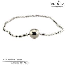 2019 kleines silbernes perlenarmband Sterling-Silber-Schmuck Perlen Essenz Armband 925 Sterling Silber Armband für Frauen passt kleines Loch Charm Bead Schmuck machen günstig kleines silbernes perlenarmband