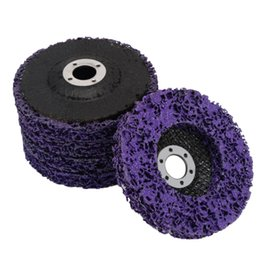 Purple 5pcs Poly Strip Disc 2inch 50mm Rust Paint Remover Roll Lock Grinding Wheel