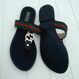 zapatillas de uso doméstico Rebajas Nueva moda de verano zapatillas para mujeres Sra. H de cuero Verano de fondo grueso zapatillas interiores interiores Muebles para el hogar ropa exterior # 928