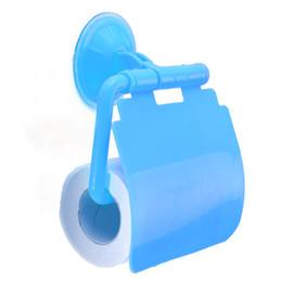 Titular de papel higiénico cubierto online-1 unid plástico montado en la pared de baño papel higiénico titular de papel con tapa de tejido porta papel higienico WC accesorios de baño