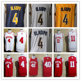 2019 split sport trikots Mens College Basketball Jersey University 4 Isiah Thomas 11 Victor Oladipo 40 Cody Zeller Hemden Retro genähtes Trikot