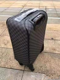 2019 klasik yüksek kaliteli 20 İnç Kadınlar dayanıklı Rolling Bagaj Spinner marka Erkekler iş Seyahat Bavul 630008 nereden kabartmalı poşetler tedarikçiler