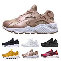 detailed look 79422 36ba2 black pink huaraches Promo Codes - Air Huarache 1 Running Shoes For Men  Women Rose Gold