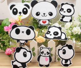 varietà abbigliamento all'ingrosso Sconti 24pcs Una varietà di panno all'ingrosso del panda, accessori di abbigliamento ricamati, patch abbigliamento, accessori per bambini