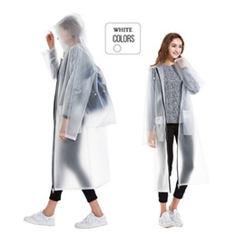 Poncho mochila online-Yuding Woman's Raincoat Tour Ponchos Impermeable Zipper Rain Coat Hooded Ladies Backpack Hombre / Mujer / Hombre Impermeable Con Mochila # 17058