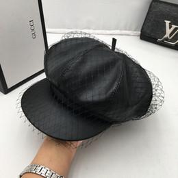 2019 comodín niño Moda para mujer sombrero piel gorra niños joker hilo neto  calidad cuero tapa 68bec7c5083