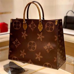lg he4 baterias Desconto 2020 Europeus E Americanos Novo bolsa de couro combinando cores dupla face saco mulheres da forma do saco de compras Marca luxo luz