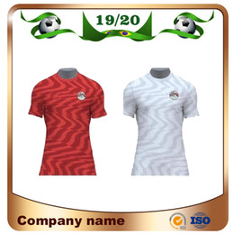 Ägyptenhemden online-New 2019 Egypt Home Rotes Fußball-Trikot Egypt 19/20 Egypt # 10 M.SALAH Fußball-Trikot entfernt Weiß Nationalmannschaft Fußball Uniformen Umsatz