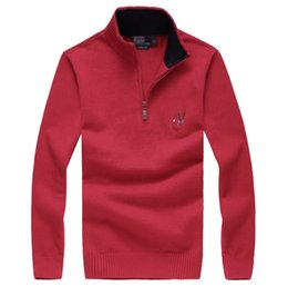 Polo classico adatto online-Ralph polo lauren slim fit designer ralph sweater lauren embroidery classic comfortable knit new famous coat leisure wild boutique classic