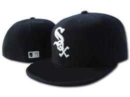New Hot On Field White Sox ha montato il cappello Top Quality flat Brim embroiered Lettera SOX Team logo fans Baseball cappelli completamente chiusi da le coperture all'ingrosso del cappello della lettera fornitori