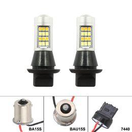2019 bau15s führte glühbirnen 1156 bau15s / PY21W ba15s T20 7440 42SMD LED-Rückfahrleuchte Canbus Auto DRL Standlicht Parklampen Blinker günstig bau15s führte glühbirnen