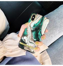 Vintage telefon grün online-Vintage grüner vergoldeter Marmor Apple X Handyhülle iPhone xs weiche Silikonhülle