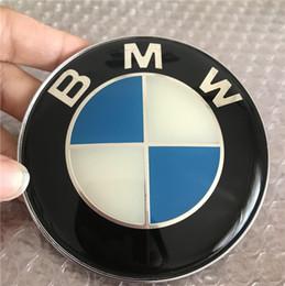 bandiera all'ingrosso della finestra Sconti 82mm CRYSTAL BlueWhite BMW LOGO c / w 2 pin Cappuccio anteriore Ricambio emblema