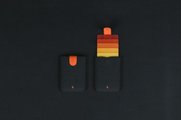 Argentina Bolsa de tarjeta de dibujo laminada DAX de 5 colores deslumbrante gradiente de color bolsa de tarjeta inteligente ultra-delgada billetera de mano para hombres y mujeres Suministro