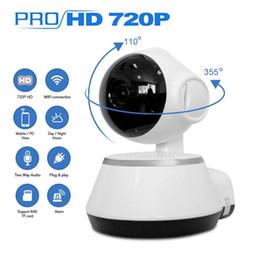 lente de orificio 3.7mm cctv mini cámara Rebajas Cámara de seguridad para el hogar IP inalámbrica Smart cámara WiFi 720P Cámara CCTV por infrarrojos Micro SD Ranura Soporte para micrófono P2P