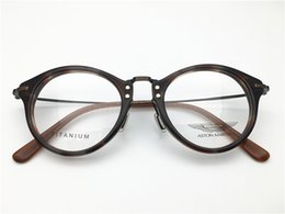 3003eba6c1 Brand Design women men round retro vintage acetate top quality optical  frame spectacle frame optical Clear prescription Lenses DL5208-F