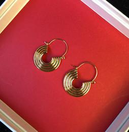 cerchio d'ottone Sconti Orecchini New Fashion Circle in ottone