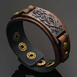 mens copper leather bracelets UK