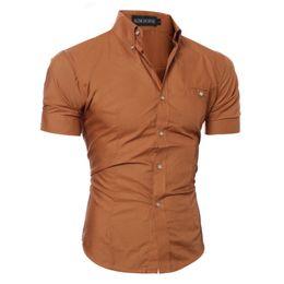 2019 weiße formale hemdjungen Slim Fit Business Business Hemd für Herren Kurzarm Stilvolle Weiß Schwarz Braun Blau Grau Lila Rosa Rot Coole Jungen Shirts günstig weiße formale hemdjungen