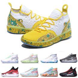 2020 Kevin Durant 12 di pallacanestro scarpe scarpe da uomo firmati kd 11 Oro Campionato MVP Finals sneakers di formazione sportiva scarpe da corsa