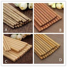 10/pares Chainese madera palillos vajilla con tapa de seda caso