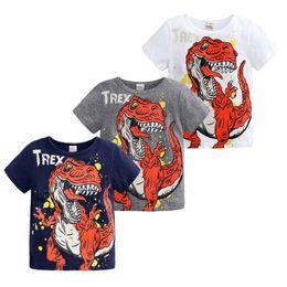 Tshirt di stampa animale online-2019 bambini ragazzo ragazza manica corta cartone animato animale stampa t-shirt bambino bambini vestiti estivi dinosaur t shirt top baby tshirt C52