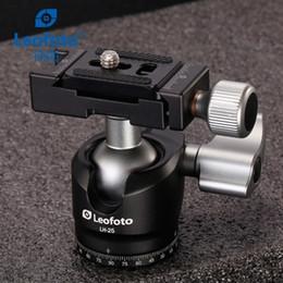 2019 mini transmisor de cámara Cabeza de bola de aleación de aluminio de trípode de cámara LH-25 panorámica con paleta de liberación rápida Arca-swiss como cabeza de trípode RRS para teléfono inteligente