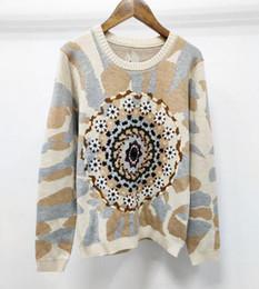 Modelli di crochet donna online-New Sexy Women Lady Designer di alta qualità Fiore del sole Modello di ricamo Manuale Crochet Lussuoso maglione Maniche lunghe
