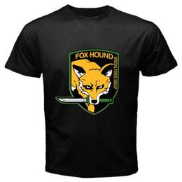 FOX HOUND FOXHOUND Special Force Metal Gear Solid Hombres camiseta negra Tamaño estilo hip hop Tops, camiseta Casual hombre, manga corta ocio desde fabricantes