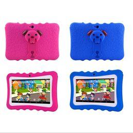 tableta china teléfono sim Rebajas Kid Educational Tablet PC 7 pulgadas Pantalla 1 + 8G Quad Core Niños Tablet Google Player con caja al por menor