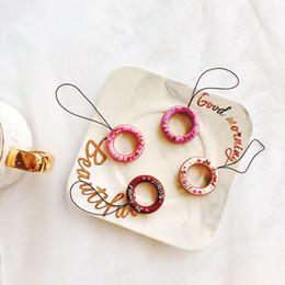 seil lanyard für handy Rabatt Neue Handy Lanyard Ring Schnalle Silikon Ring Handy kurze hängende Hals Seil abnehmbare Handy Schlinge