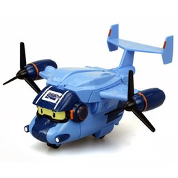 mejores luces de juguetes Rebajas Silverlit Robocar LED brillantes a hélice Aviones aviones Poli Carey portador de luz eléctrica con mejores juguetes de los niños de sonido y LA87
