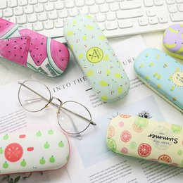 wholesale reading sunglasses Coupons - Cute fruite sunglasses pouch for women and men portable reading glasses box hard glasses case for